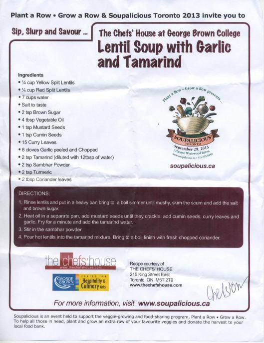 TheChefsHouse lentil soup