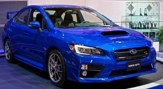 Subaru WRX STI in World Rally Championship Blue