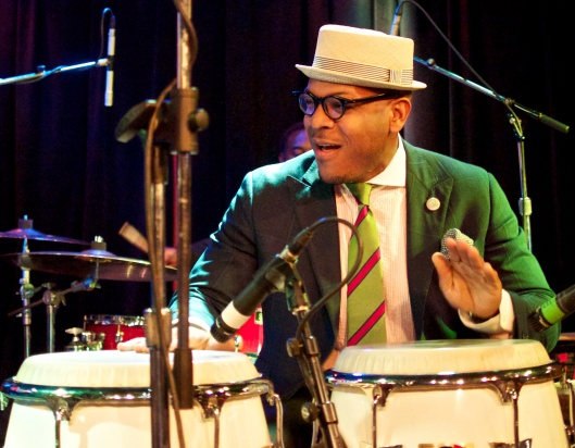 Etienne Charles on percussion