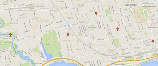 Jazz Safari Google Map stop locations