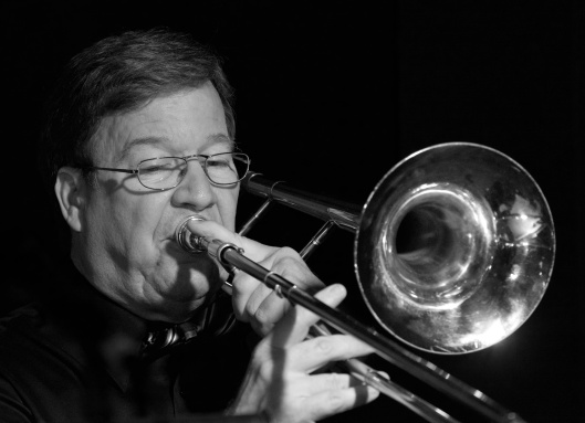 band leader Bill Beecroft, trombone